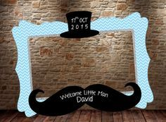 Little Man Baby Shower Frame, Little Man Birthday Party, Photo Booth Frame, Little Man Birthday Party, Baby Shower Party - Lil Man Baby Shower, Baby Shower Frame, Idee Baby Shower, Shower Bebe, Mustache Birthday, Mustache Party, 1st Boy Birthday, Mustache Theme, Shower Party