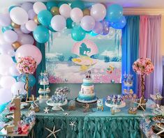 SZZWY Baby Shower Backdrop 10X8FT Vinyl Blue Sky White Cloud Backdrops Cartoon Girls Birthday Dessert Table Wallpaper Photography Background for Cake Smash Room Paper Photo Studio Props YX899