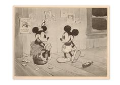 Original Vintage 1930s Mickey Mouse Art Print 5 x by GraceArchives, $45.00