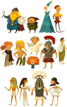 History of fashion! by Wesley Robins, via Behance ✤ || CHARACTER DESIGN REFERENCES | Find more at https://www.facebook.com/CharacterDesignReferences