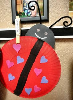 Paper Heart Lovebug Crafts