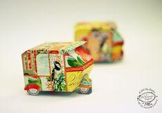 SALE DIY Paper Toy  Vintage Auto Rickshaw Set of 2  door SkyGoodies, $4.99