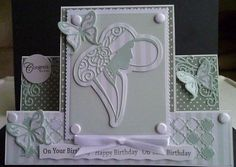 Card made using various dies from various companies ie. Tattered Lace, Crafters Companion and Tonic Center Step Cards, Screen Cards, Art Deco Cards, Stepper Cards, Crafters Companion Cards, Tattered Lace Cards, Lace Art, Birthday Cards For Women, Shaped Cards