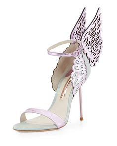 Evangeline Angel Wing Sandal, Ice Blue by Sophia Webster at Neiman Marcus.