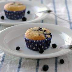 Low-Carb Blueberry Muffins - Low-Carb, So Simple! -- gluten-free, sugar-free recipes with 5 ingredients or less