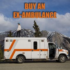 WHY buy an ambulance? Well, many people actually buy former ambulances. and it isn't to go around faking being an emergency vehicle (highly illegal. Motorcycle Camping, Truck Camping, Camping World, Camping Gear, Camping Cabins, Camping Trailers, Travel Trailers, Campsite, Backpacking