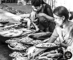Straßen von Yangon
