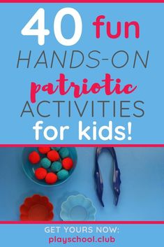 Introduce U. symbols and histories to young children this summer with our Patriotic Family Activity Guide! These 40 hands-on learning activities for preschoolers and primary grades include sensory, math, and art. Preschool Learning Activities, Fun Activities For Kids, Hands On Activities, Family Activities, Fun Learning, Stem Projects For Kids, Best Educational Toys, Young Children, Fourth Of July