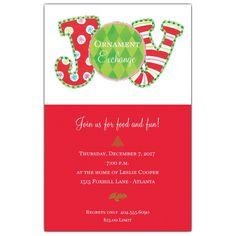 Decorative+JOY+Christmas+Invitations