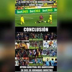 La realidad del Barça con el árbitro
