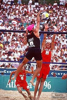 karch kiraly 1996 olympic beach volleyball quarterfinal atlanta ga