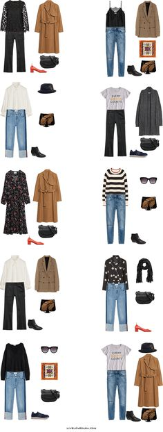 What to Pack for Paris, France Packing Light List Outfit Options 11-20 | What to France | Packing Light | Packing List | Travel Light | Travel Wardrobe | Travel Capsule | Capsule |