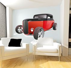 Wholesale Printers, smartwalling, wall decals - Hot Rod Wall Decal, $7.95 (http://www.wholesaleprinters.com.au/hot-rod-wall-decal)