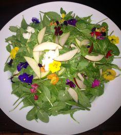 Arugula salad w/ pears