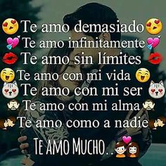 Te Amooooooooooooooo y jamas me cansare de decirteloooooooo Mi Amor Te Amooooooo muchisimo ❤ Spanish Quotes Love, Spanish Quotes With Translation, Qoutes About Love, Romantic Love Quotes, Love Yourself Quotes, Love Quotes For Him, Amor Quotes, Bae Quotes, My Only Love