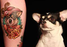Megan tattoos her dog - Beatrix Elenor Longbody - onto ...