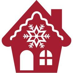 Silhouette Design Store - View Design #109528: christmas snowflake house
