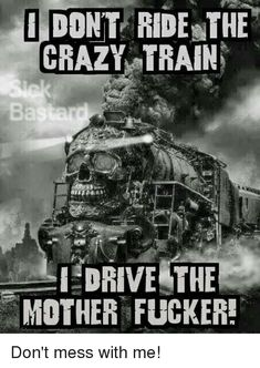 Mental wounds still screaming Driving me insane I'm going off the rails on a crazy train. Funny Signs, Funny Jokes, Hilarious, Funny Laugh, Fun Funny, Sarcastic Quotes, Qoutes, True Quotes, Baddies