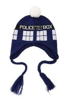 Doctor Who TARDIS Peruvian Beanie