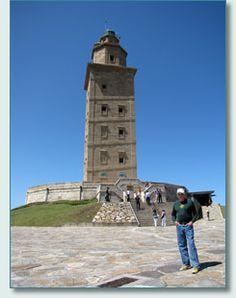 Lighthouse at La Coruna, Galicia, Spain