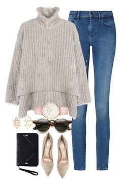 """Untitled #143"" by jasmine-shum ❤ liked on Polyvore featuring Calvin Klein, Charlotte Russe, Gianvito Rossi and CLUSE"