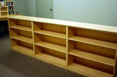 DVD storage- build shelves across entire wall
