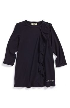 Armani Junior Jersey Ruffle Dress (Baby Girls) available at #Nordstrom