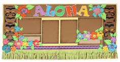 Aloha Luau Scrapbook Layout SVG and WPC cutting file from Pazzles Party CD and Digital Download.