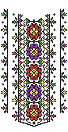 embroidery programs, SIZE, recommended for machines with a minimum of 30 cm. DIMENSIONS 170 x 300 mm band type, Polish Embroidery, Folk Embroidery, Embroidery Patterns Free, Beaded Embroidery, Cross Stitch Embroidery, Embroidery Designs, Cross Stitch Tree, Cross Stitch Borders, Cross Stitch Flowers