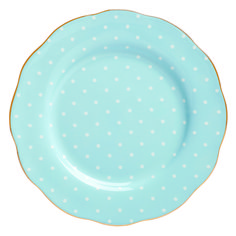 ++ royal albert polka blue formal vintage salad plate