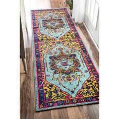 nuLOOM Traditional Vibrant Vines Ornamental Runner Rug (2'6 x 8') - Free Shipping Today - Overstock.com - 17854726 - Mobile