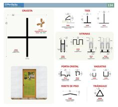 Cruceta - Tees - Vitrinas - Vaguetas - Ribete Perfiletto ®| Catálogo Virtual Perfiletto