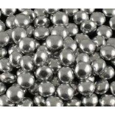 Silver cola ball sweets. Cola rola balls