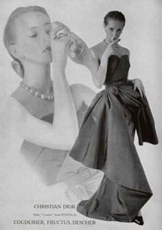 Wondering who wore that fab Dior, Givenchy, or Balmain gown you saw? If it was a 1951 Dior, it was probably New York socialite Mrs. Vintage Fashion 1950s, Vintage Dior, Fifties Fashion, Vintage Couture, Vintage Glamour, Vintage Beauty, Retro Fashion, Vintage Dresses, Vintage Outfits