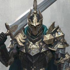 Neutral Kingdom Lieutenant of the knights Fantasy Character Design, Character Concept, Character Inspiration, Character Art, Armadura Medieval, Fantasy Armor, Dark Fantasy Art, Fantasy Art Warrior, Dnd Characters