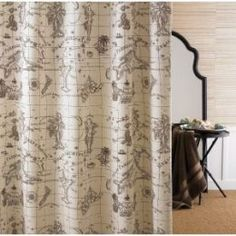 1000 images about curtains on pinterest bohemian curtains scandinavian fabric and maps - Old world map shower curtain ...