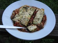 """Simple, satisfying paleo, scd & whole30-friendly lasagna (omit yogurt cheese for whole30 and strict paleo) made with tomato sauce, ground beef and zucchini """"noodles."""""""