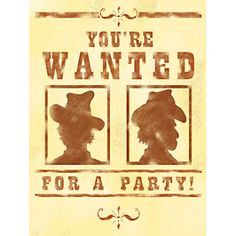 Fan of this cowboy party invite.