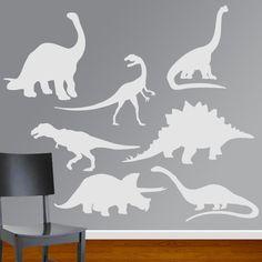 Boys Room Dinosaur Vinyl Wall Decal Set. $25.00, via Etsy.