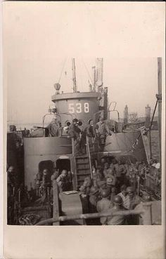 USS LCI(L)538 :WWII getting ready for D-Day Normandy France. Many pages here with information regarding this ship, including specs, deck log entries.