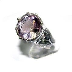 Topaz pink ring 925 sterling silver, 100% handmade, size 6.5, single copy, solid silver, natural pink topaz, silver ring, gemstone by StudioLangeron on Etsy