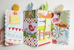I love making mini albums especially when all you need is a 12 x 12 card stock base and a few bits of pattern paper and embellies! ...