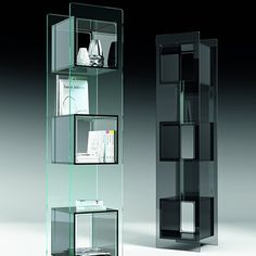 fiam magique totem display cabinet | display cabinets | fiam contemporary modern glass furniture - free uk delivery