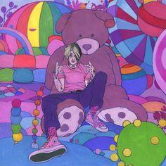 Arte Hippy, Lil Peep Beamerboy, Lil Peep Hellboy, Original Paintings, Original Art, Room Posters, Gouache Painting, Painting Art, Photo Wall Collage