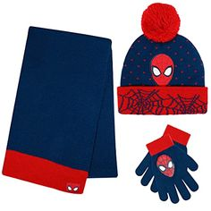 Shop online Marvel Spider-Man Kid's Winter Hat Snow Gloves and Scarf for Boys and Toddlers 3 Pc Set Warm Pom-Pom Beanie with Accessories. Explore our Boys Fashion section featuring new #shopping ideas of the best collection of #BoysFashion #BoysAccessories and #fashion products online at #Jodyshop Marketplace. Boys Accessories, Winter Accessories, Winter Hats For Men, Small Gift Boxes, Vintage Colors, Red And Blue, Toddlers, Spiderman, Gloves