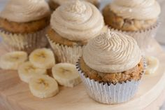 These tender banana cupcakes are made with coconut oil and cashew milk, so they're completely dairy free. Top them with swirls of brown sugar buttercream for a crave-worthy treat!