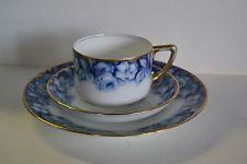 Antigo Porcelana Rosenthal Conjunto De Xícara E Dois Pratos