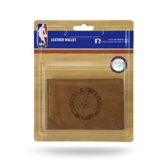 Boston Celtics Leather Embossed Trifold Wallet