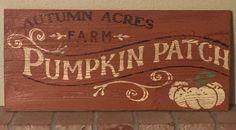Pumpkin patch sign, handmade on reclaimed wood