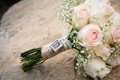 Country Wedding Bouquet with Charm
